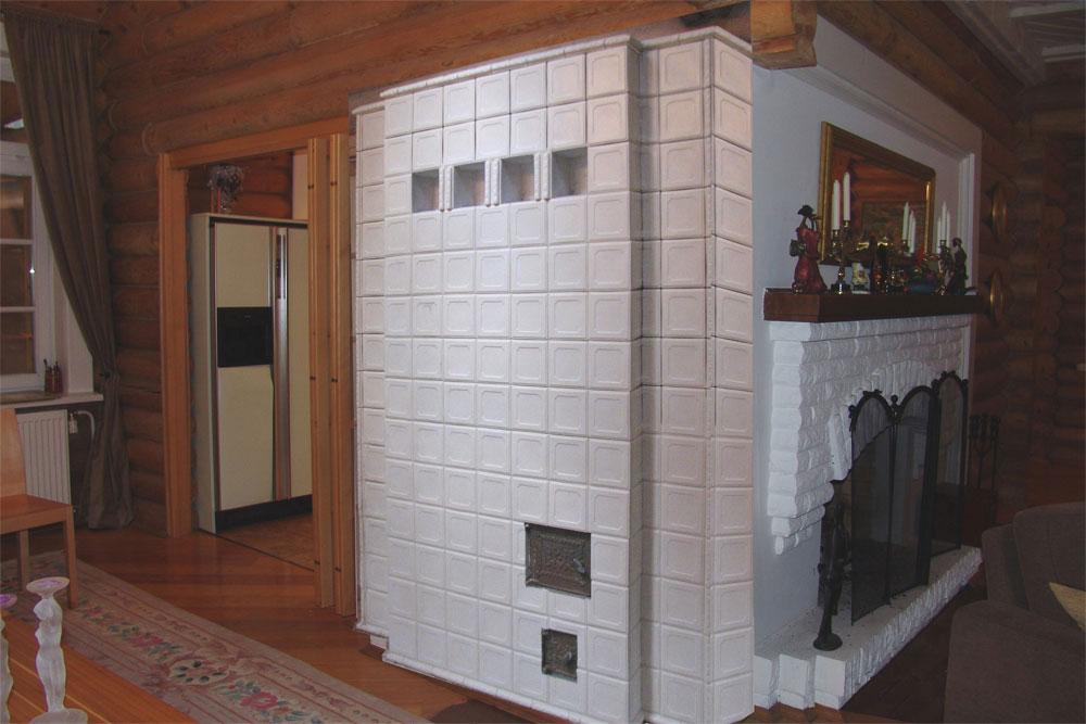 Облицовка печи в доме фото